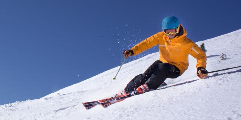 Skier carvend