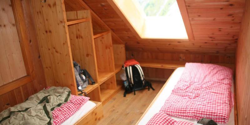 Slaapkamer in berghut