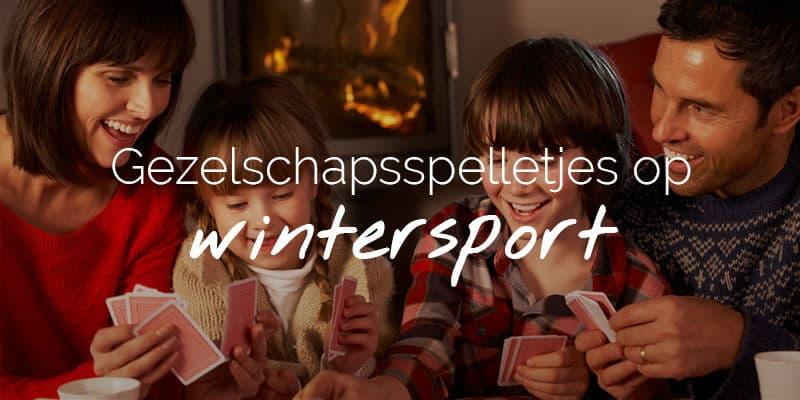 Gezelschapsspel op wintersport
