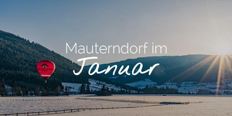 Mauterndorf im Januar