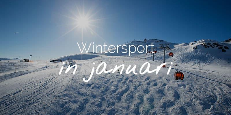 januari wintersport Oostenrijk