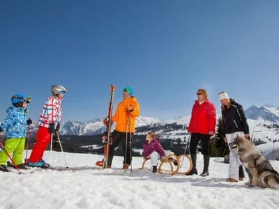 Child friendly ski areas